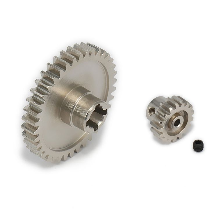 17T Motor Gear + Main Gear For 1/18 Wltoys A959 A969 A979 K929 Model RC Car Upgraded Parts Electric RC Truck Desert Off-road #Affiliate