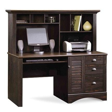 Sauder 174 Harbourview Computer Desk With Hutch Sears