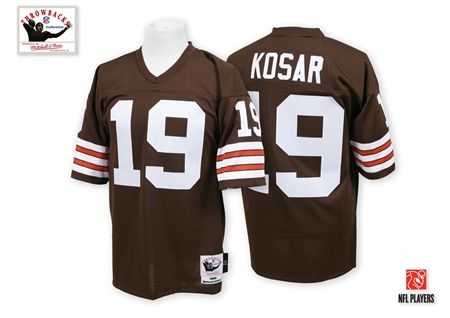 Mitchell And Ness Cleveland Browns #19 Bernie Kosar Brown Team Color Authentic Throwback NFL Jersey Sale