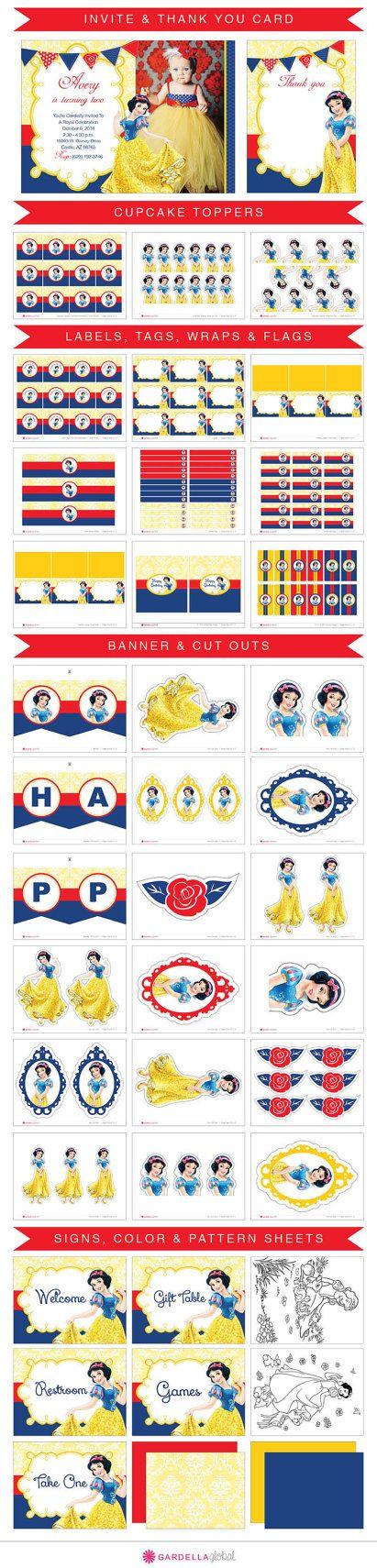 Snow White Invitation, Snow White Invite, Disney Princess Invitation, Disney…
