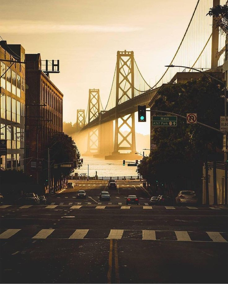 Yes! I've driven down this street and thought it's the best framing / composition for the Bay Bridge.