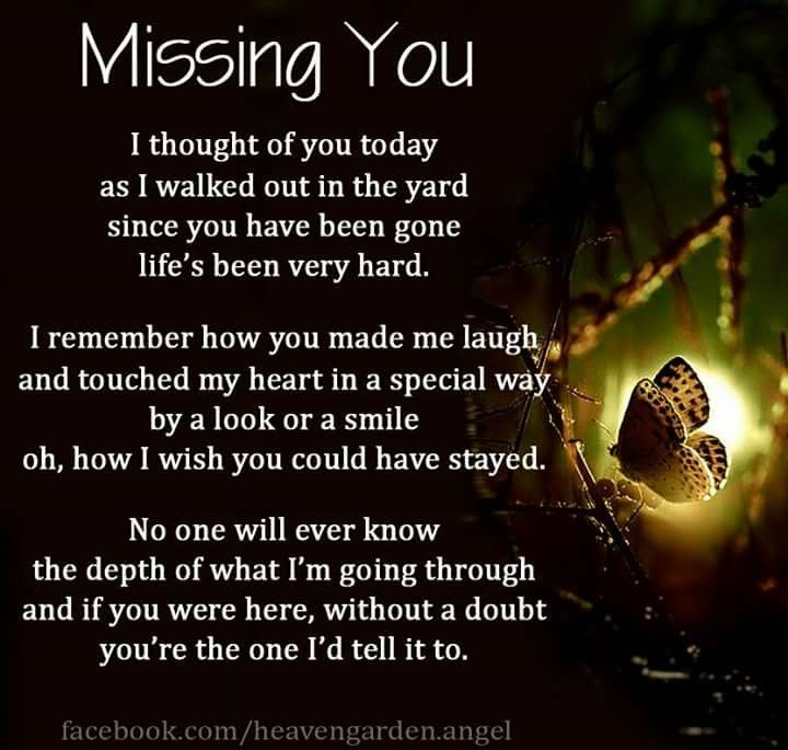 I Miss Talking With You I Miss Listening To All Your Stories I