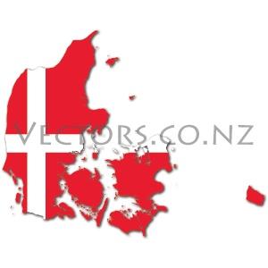 Flag Vector Map of Denmark