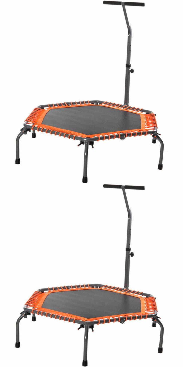 Trampolines 57275: Exercise Fitness Trampoline Home Workout Cardio Training With Handle Bar Merax -> BUY IT NOW ONLY: $128.99 on eBay!