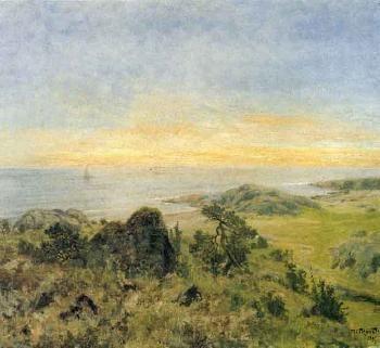 After sunset, landscape from Hvalorerne