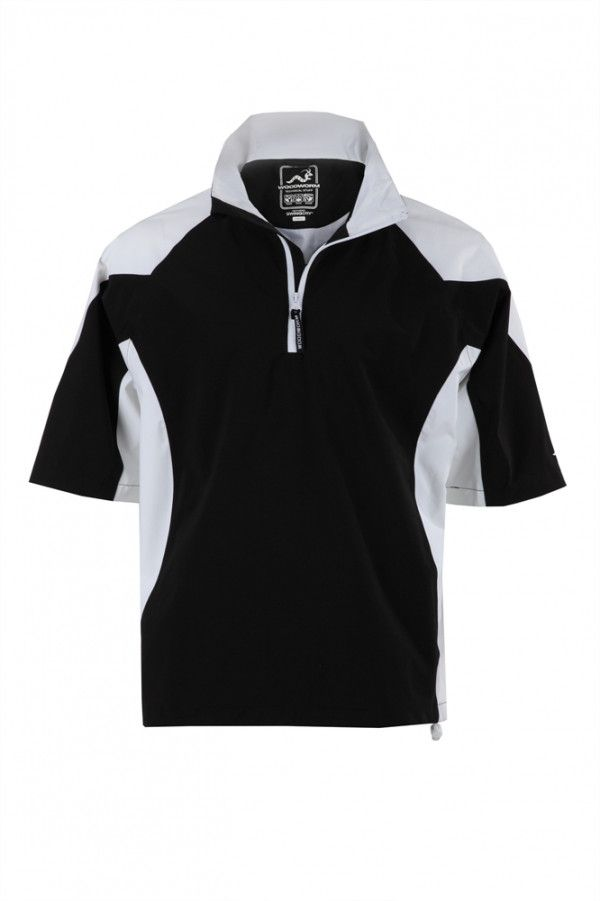 Woodworm Golf V2 Waterproof Half Sleeve Top Black - Golf Outlets of America - Golf Outlets of America #Golf #sports #Coupons #athlete