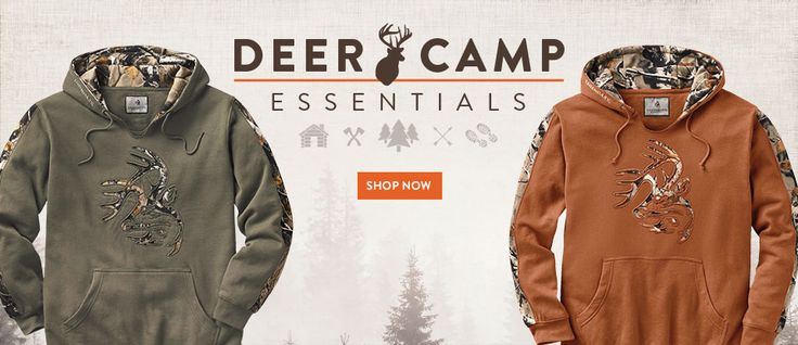 Brings luck to some. A new favorite to all! Legendary Whitetails' Outfitter Camo Hoodies