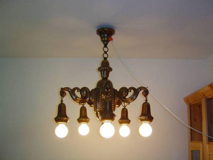 Antike Deckenlampe Um 1915