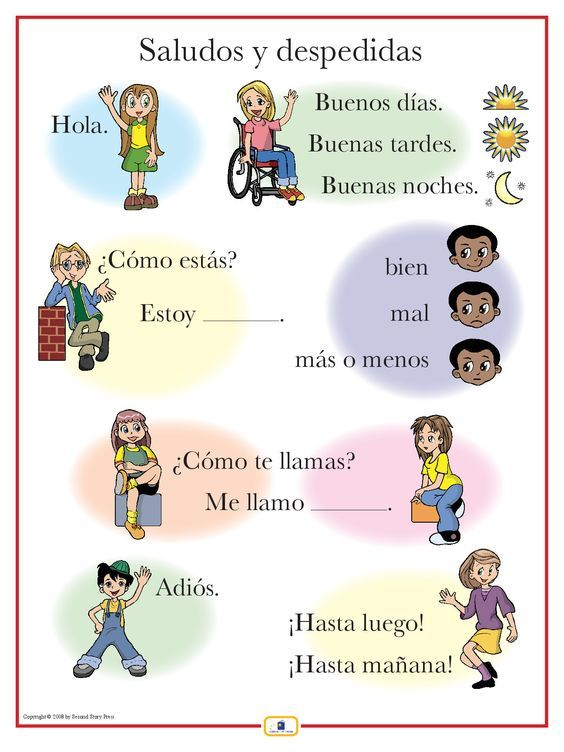Image result for introduction in spanish chart