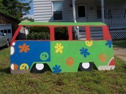 Cut Out Hippie Van