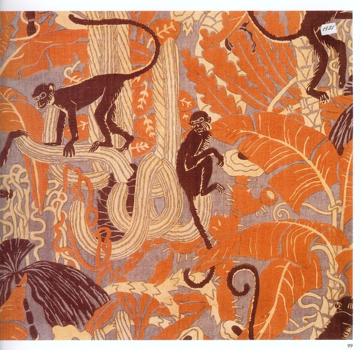 """I have all these terrific """"Art Deco Textiles"""" which I believe are from one of the books of that same name, but I don't know where I got them."""