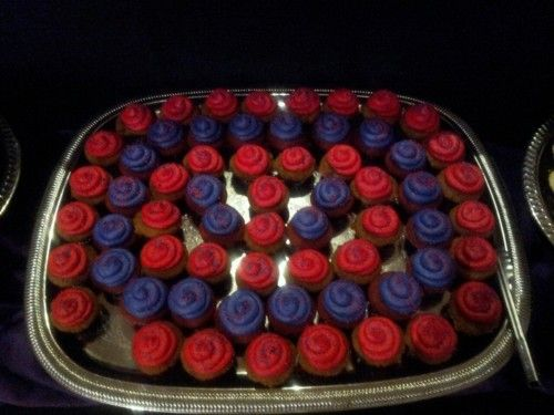 Cupcakes courtesy of the Red Hat Society