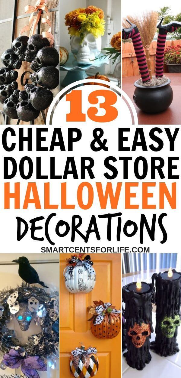 13 Billig und Einfach Dollar Store Halloween Dekorationen