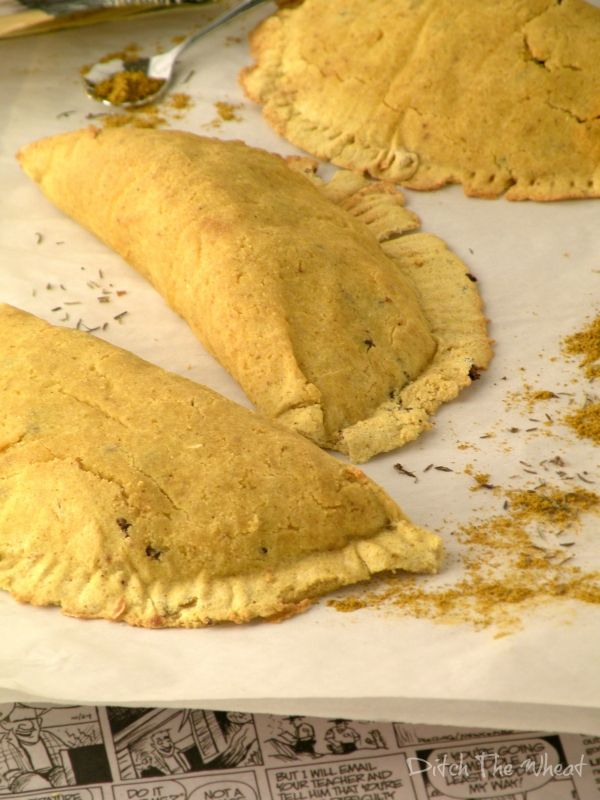 Paleo Gluten Free Jamaican Patties Yield: 4-6  Ingredients  Pastry: 2 large eggs, separated 1 tsp cream of tartar 1/2 cup of plain almond milk (vanilla flavoured can be used and will not affect the flavour) 2 tbsp extra virgin coconut oil 1/2 cup + 2 tbsp coconut flour, sifted 1 tsp curry powder 1/2 tsp baking powder Dash of salt