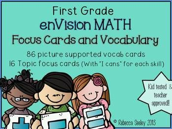 First Grade EnVision Math Essential Questions and Vocabula