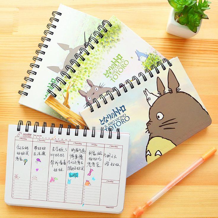 Cartoon Totoro Weekly plan Spiral notebook Agenda for week Schedule organizer planner Cuadernos office School supplies 6821-in Notebooks from Office & School Supplies on Aliexpress.com | Alibaba Group