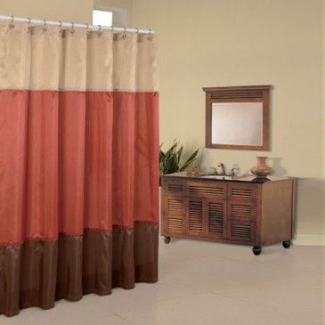 The Regency Collection Of Color Block Shower Curtains Are Available.