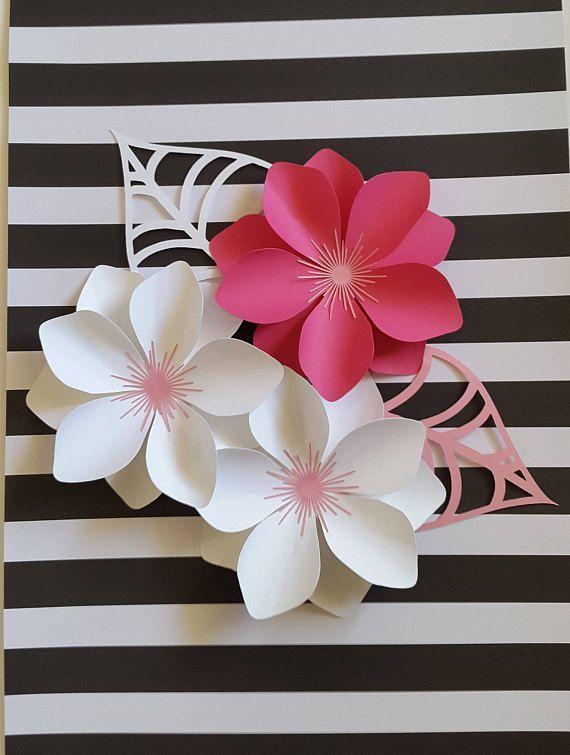 Fondo de flores de papel para vivero decoración de pared de