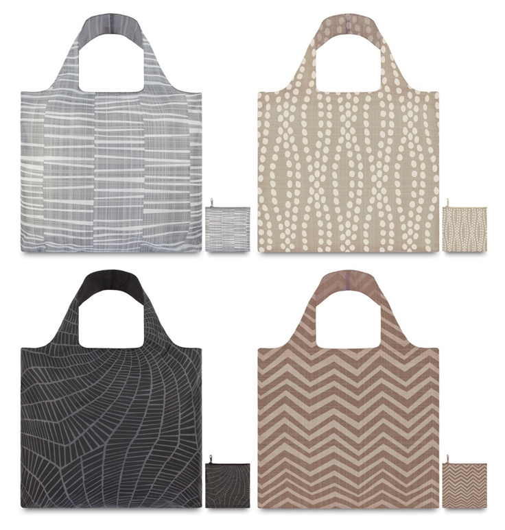 LoQi Earth Collection. These amazing foldable shopping totes are available for only $13.90 at The Wallet Shop