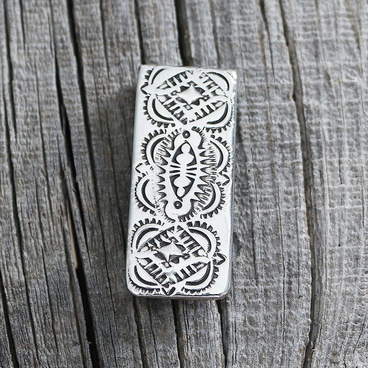 NAVAJO STERLING SILVER MONEY CLIP BY SHIRLEY SKEETS
