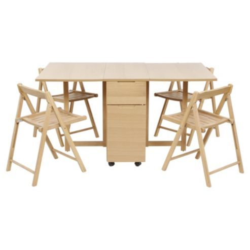 89 best images about space saving multifunction furniture on pinterest compact beds and storage - Gateleg table with chairs ...