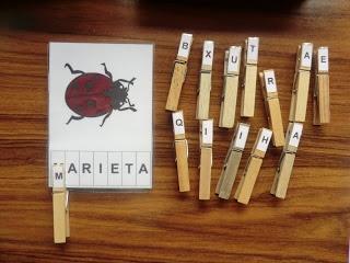 La CASETA, un lloc especial: Lectoescriptura amb pinces
