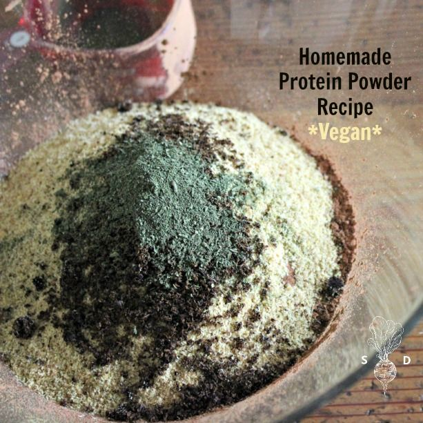 Today we're sharing a new accomplishment of ours: Homemade Protein Powder. Now you too can make your own protein powder that's vegan too! Recipe & photos...