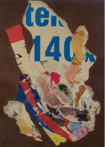 UNTITLED | villegle Arrachage et collage d'affiches sur isorel n°: villeglé-0312-005-2M5
