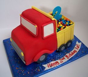 Truck Cake ~ so darn cute! @Ashley VanEver !!  If we do trucks next year, we are so doing this one!