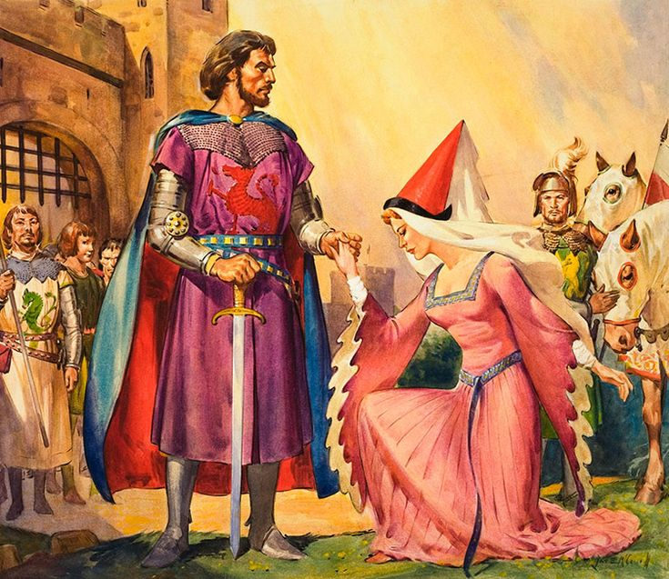 King Arthur and Queen Guinevere (Original) (Signed) art by James E McConnell