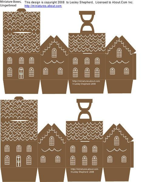 Printable mini ginger bread house....FREE