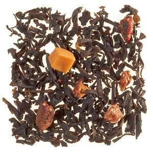 Charlotte aux Fruits (Mélange de thés de Chine non fumés et de Ceylan, arômes fruits rouges et biscuit, morceaux de fraise et de caramel).