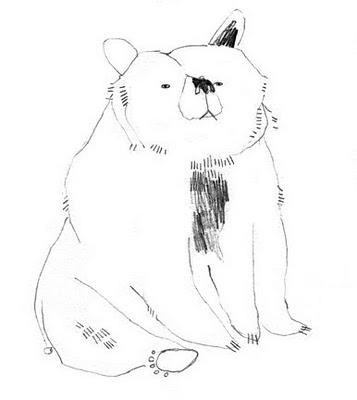#Emma Lewis #bear #illustration, design, mark making, doodle, drawing, cute, character, kids