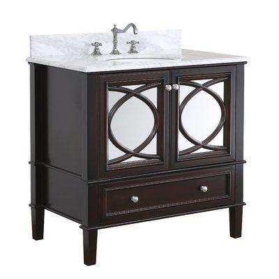 kbc olivia 36 single bathroom vanity set base finish chocolate rh pinterest com