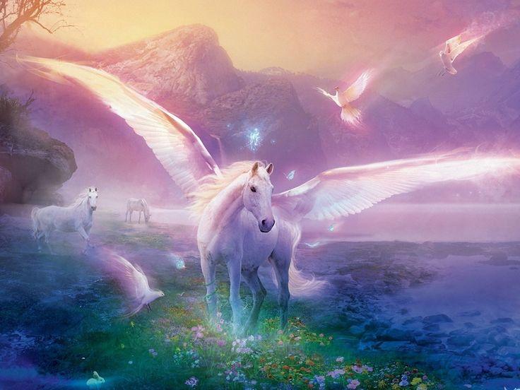 PÉGASO - Cavalo alado símbolo da imortalidade. Sua figura é originária da mitologia grega, presente no mito de Perseu e Medusa. Pégaso nasceu do sangue de Medusa quando esta foi decapitada por Perseu.