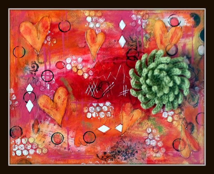 Untitled#6 #Mixmedia #Crochet