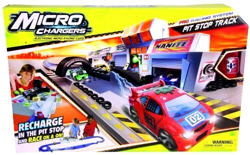 Electronic Micro Chargers Pro Racing Cars Toy Pit Stop Track Xmas Gift #MicroChargers