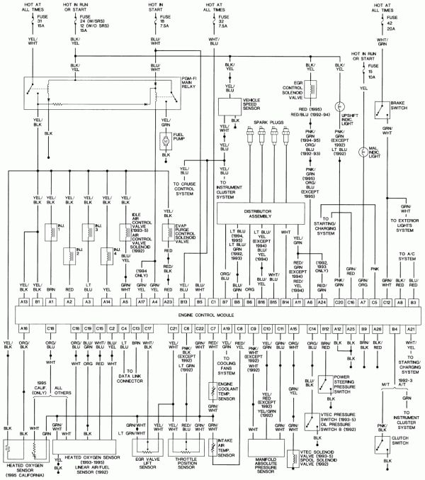 18 1995 Honda Civic Engine Wiring Diagram Honda Civic Honda Civic Engine 2008 Honda Civic