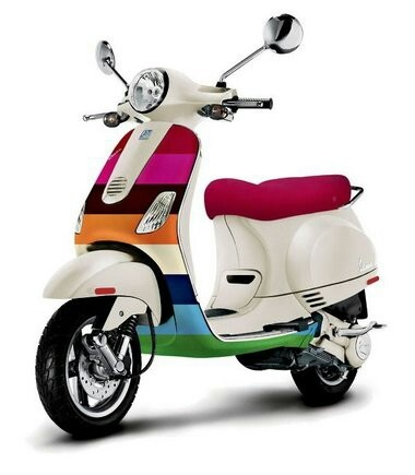 Rainbow Vespa