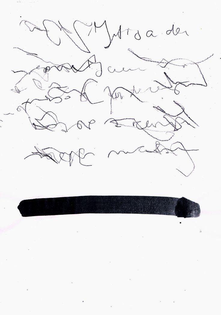 Asemic writing mila blau