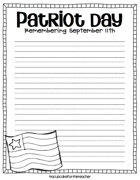 Patriot Day {Sept. 11}, Prep, and Winners   Classroom Ideas ...