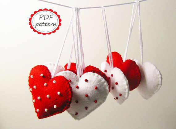 Hey, I found this really awesome Etsy listing at https://www.etsy.com/listing/229630963/felt-heart-decor-pattern-polka-dot-red