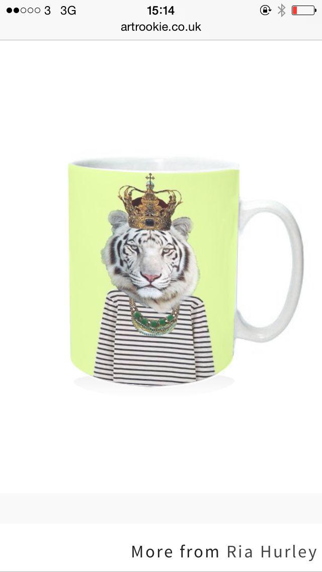 Tiger Mug www.artrookie.co.uk/riasiobhan