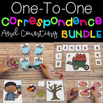 One to One Correspondence & Counting Growing Bundle! This is a complete print and go set with no worksheets, just hands on activities. Laminate for durability and use year after year. Themes include: food, fall, winter, Christmas, and more. $