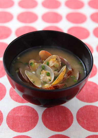 Miso-soup A famous soup dish in #Japan.