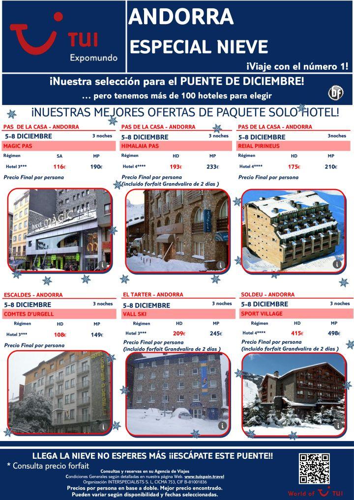 ¡Nuestra selección Puente de Diciembre! Especial Nieve en Andorra. Precio final desde 116€ - http://zocotours.com/nuestra-seleccion-puente-de-diciembre-especial-nieve-en-andorra-precio-final-desde-116e/