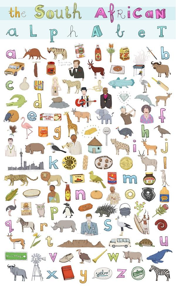 South African Alphabet by Alex Latimer