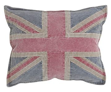 Cuscino in cotone Union Jack, 40x50 cm