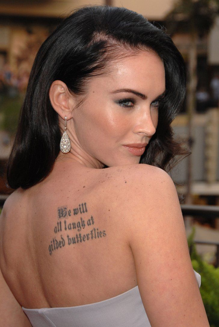 Pin for Later: Jaime King Got an Elegant Rose Tattoo, Plus More Celebrity Ink Megan Fox Megan revealed that this Shakespearean line is meant to keep her from getting too caught up in the Hollywood scene.