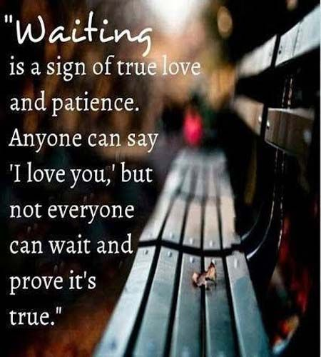 waiting for the one....